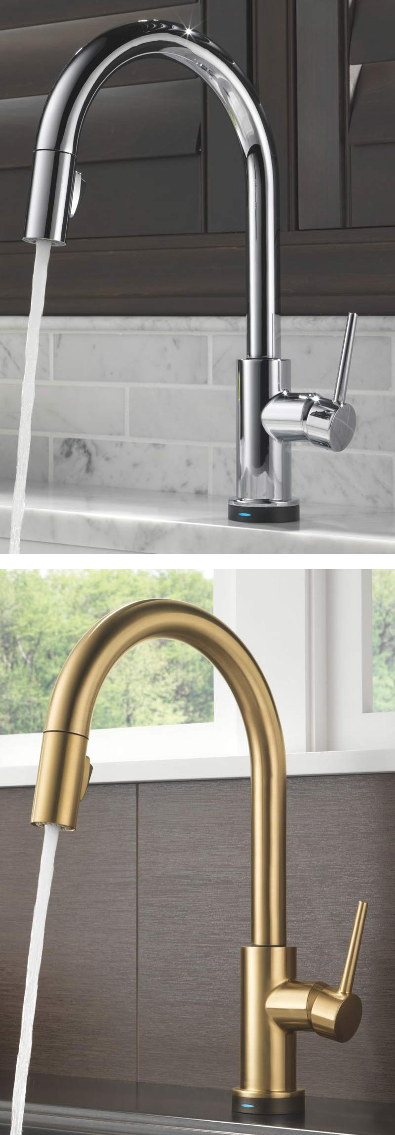 Victorian single handle kitchen faucet with sprayer in venetian bronze - Delta Trinsic Single Handle Single Hole Pull Down Kitchen