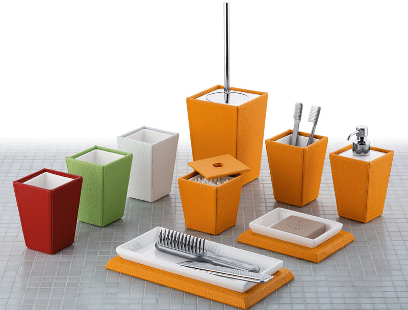 Gedy by nameeks modern bathroom accessories at for Orange toilet accessories