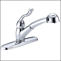 Delta Faucet 473 Saxony Pull Out Spray Kitchen Faucet