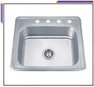 Single Bowl Self-Rimming Sinks