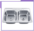 Kraus Double Bowl Top Mount Sinks